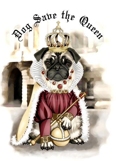 Mrs Pug Queen by selfOblivion