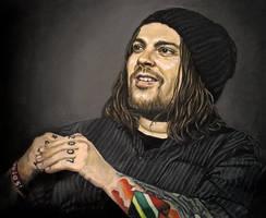 Shaun Morgan.Seether. Oil Painting by selfOblivion