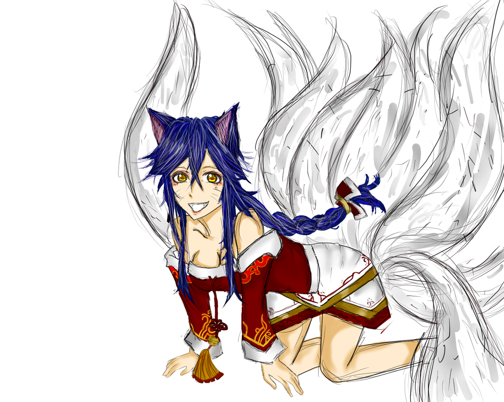 Ahri League of Legends by mikuhatsunevocaloid1