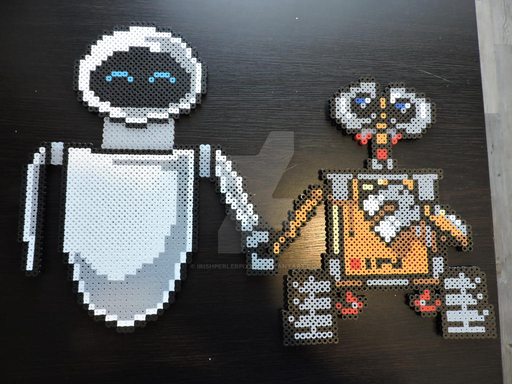 Wall-E and EVE Pixel Art by IrishPerlerPixels