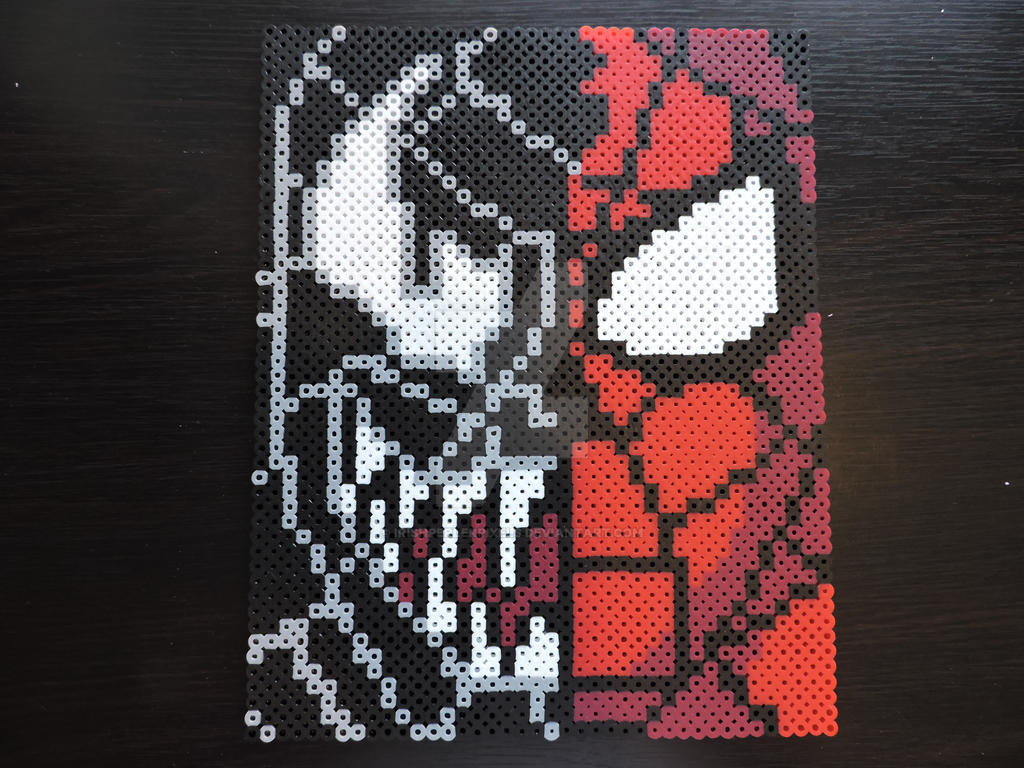 Spider Man and Venom Pixel Art by IrishPerlerPixels