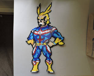 Boku No Hero Academia All Might Pixel Art (Perler) by IrishPerlerPixels