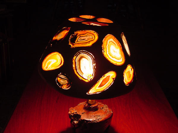 Geode Lamp Side A By Woodizgood ...
