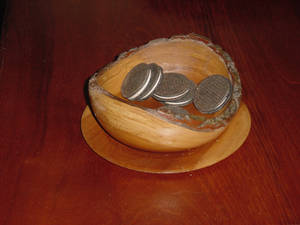 Natural Edge Bowl and Saucer