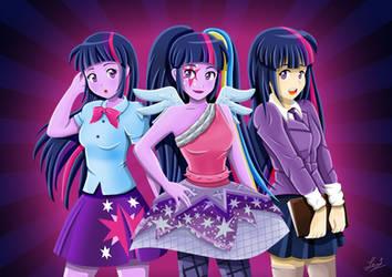 The Many Versions of Twilight Sparkle - MLP by tachiban18