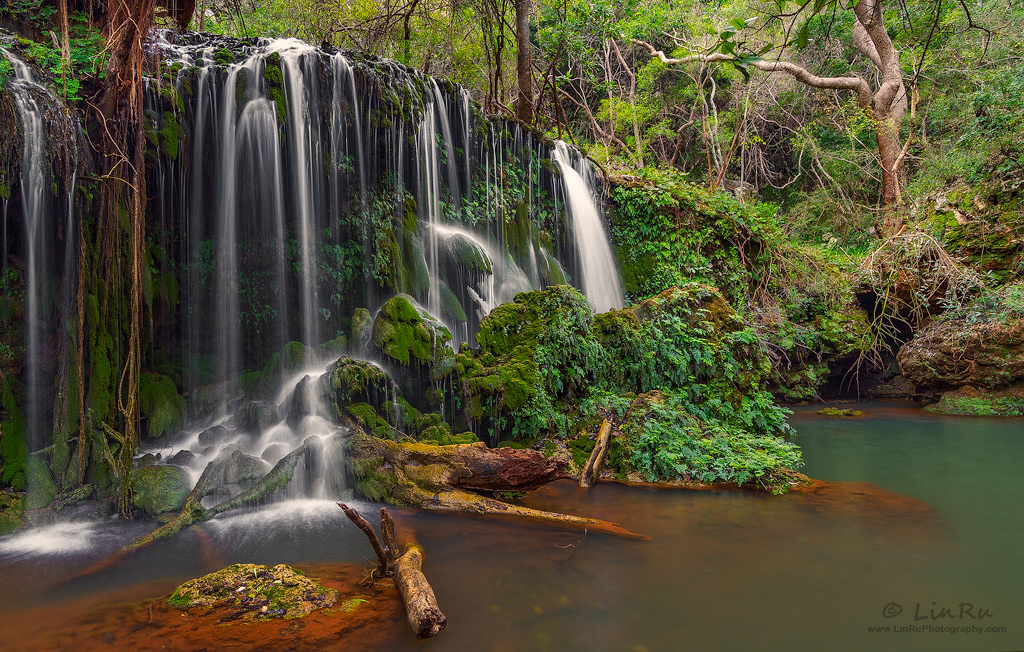 August Waterfall by LinRuPhotography