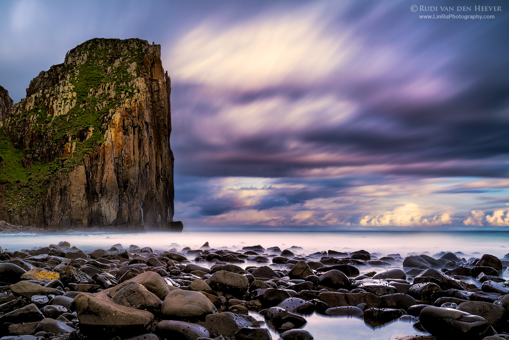 Twilight Cliff by LinRuPhotography