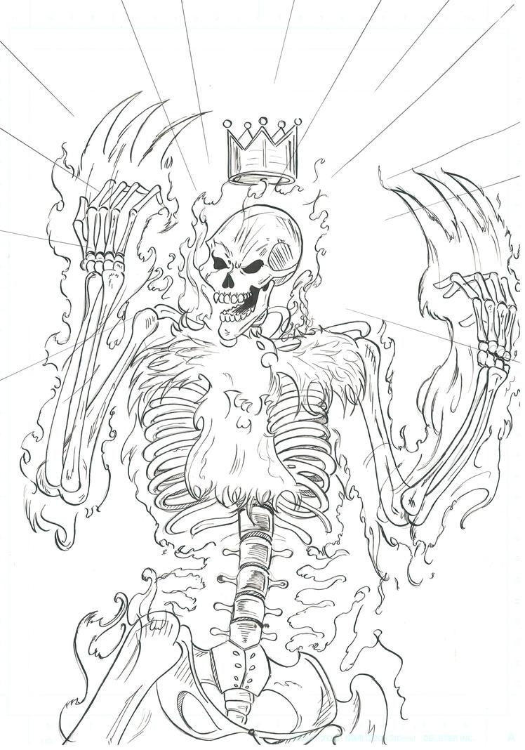 Flaming Skeleton by Kyo-Hisagi