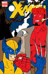Wolverine and Hellboy by Kyo-Hisagi