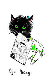 Manga Cat by Kyo-Hisagi