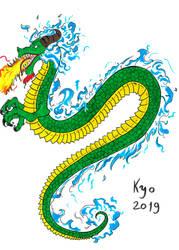 Flame Dragon by Kyo-Hisagi