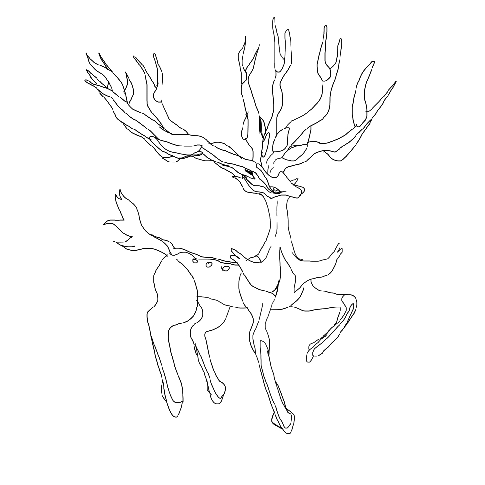 deer legendary coloring pages sketch coloring page