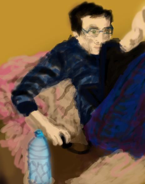 Mic sketch by Wolfie-Miyaku