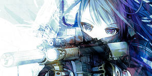Machine Gun Anime Girl Signature by Raykorn