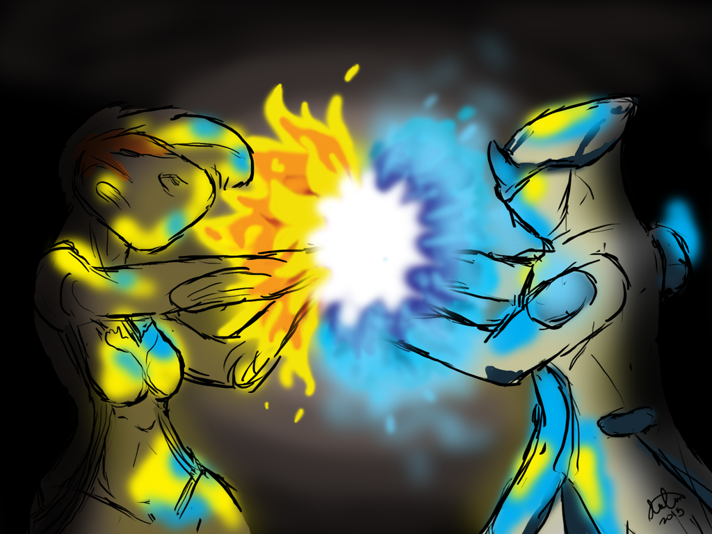 Ember and Frost Having a Blast by Awti