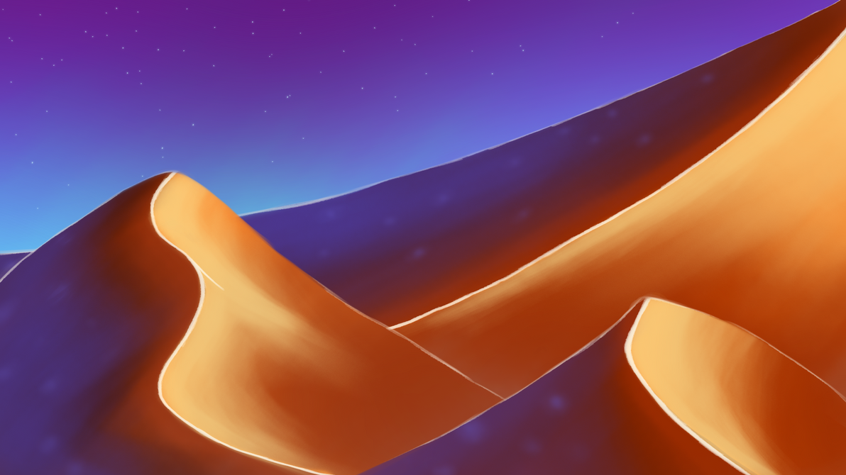 Background Concept #2 - Starlight Dunes by Kazonak