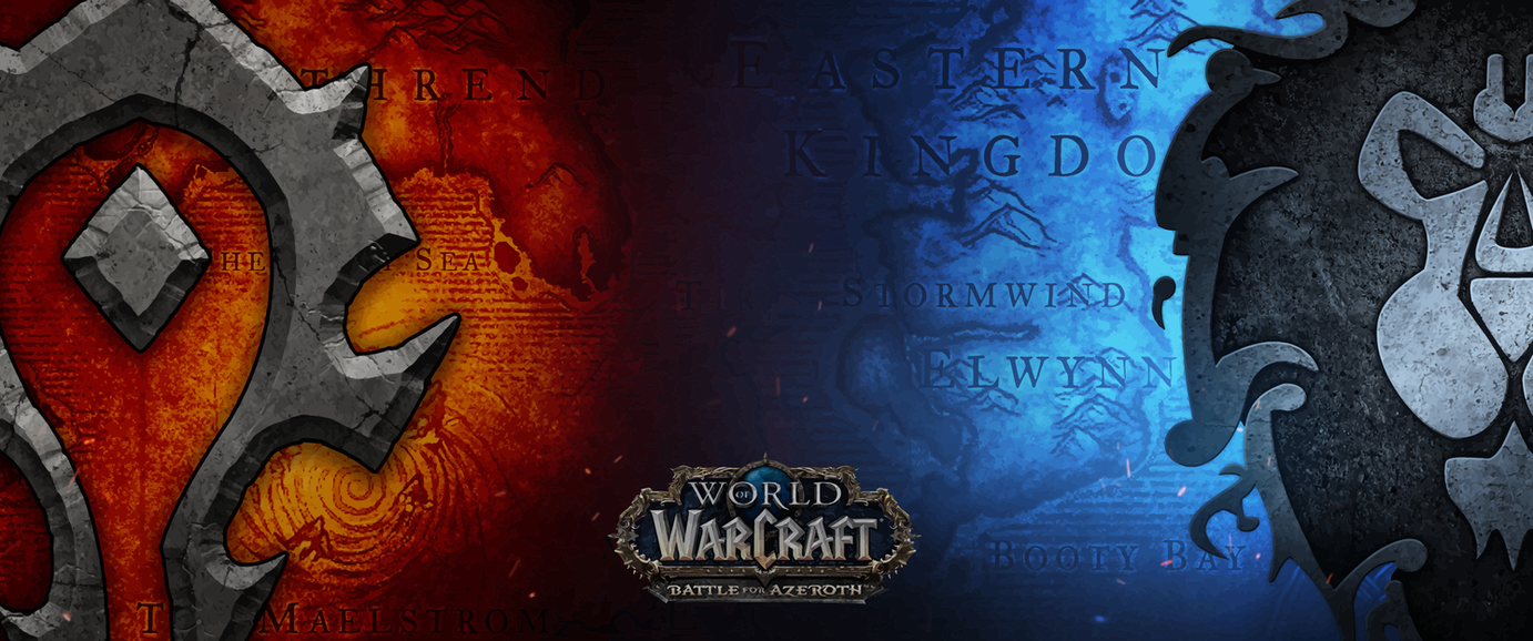 World Of Warcraft Wallpaper Bfa: Battle For Azeroth [3440x1440] (Vectorized) By Mtheis1987