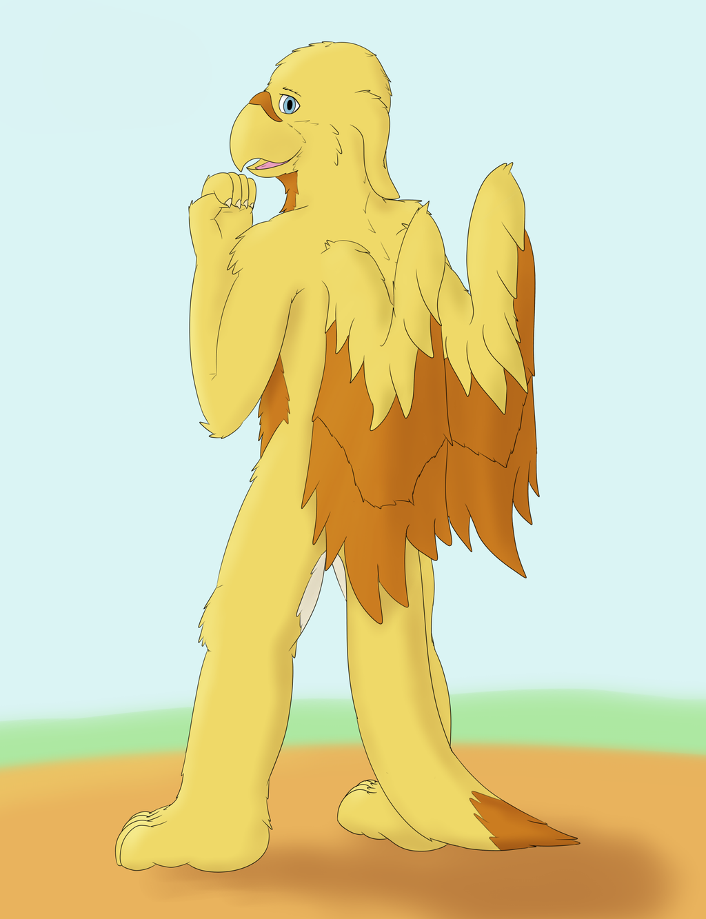 excited Gryph by dalnariarna