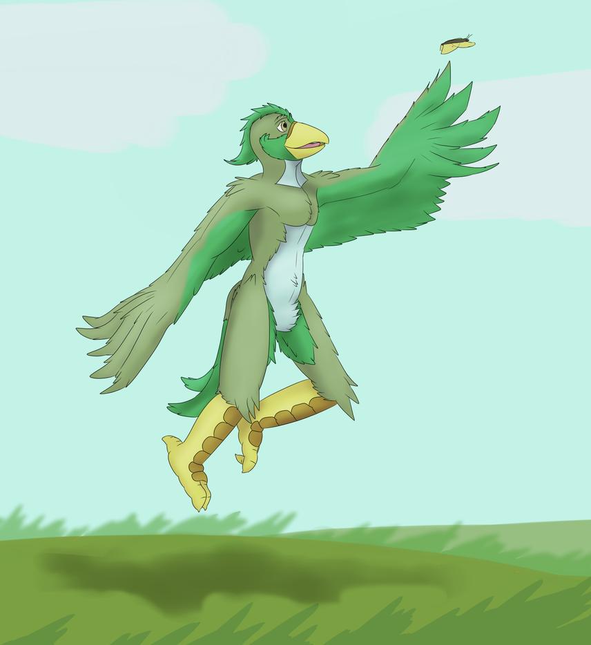 Jumping bird by dalnariarna