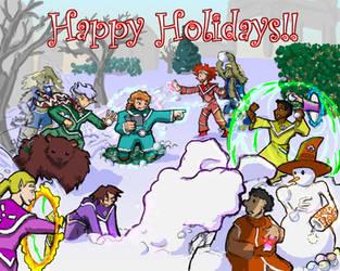 Magic Snowball Fight by Elyandarin