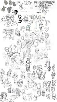 Big Honkin' Sketches Collage