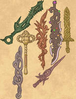 Otherworldly Weapons Dump by Elyandarin