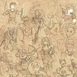 Nobilis: Imperator sketches