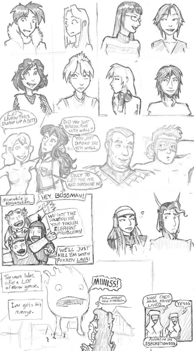Webcomic Fanart #5: Various Mature Comics Dump by Elyandarin