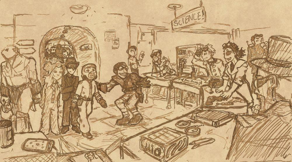 Fanart: The Inscrutable Machine visits Chinatown by Elyandarin