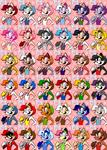Sarah Fighter Portrait - Alternate Colors + DLC