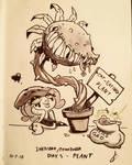 Toontober Day 5 - Plant