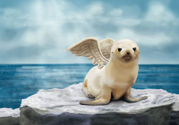 Ark-angel of the Pacific by akrasiel