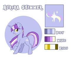 Pandoraverse Reference Sheet: Aurora Shimmer by SkittlesAndPonies