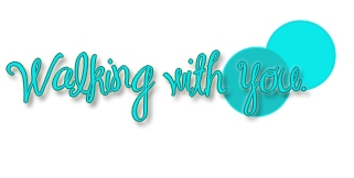 Walking with you, png text.