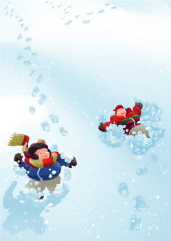 TRUDGING THROUGH THE SNOW