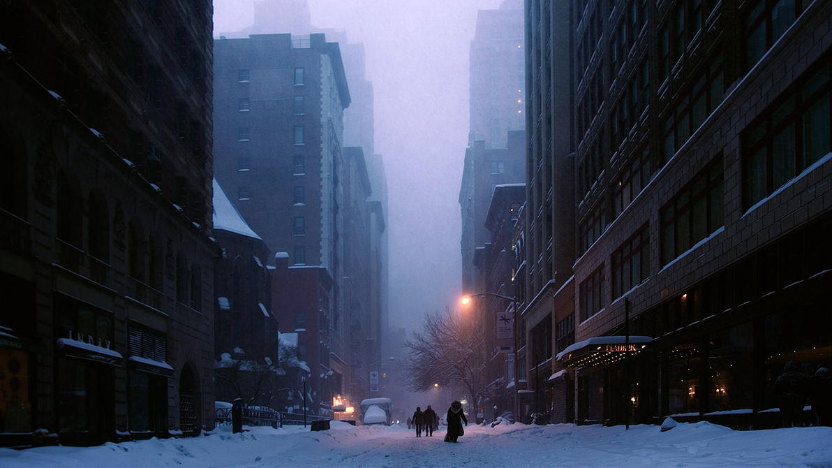 Snow in the city by BobContrast
