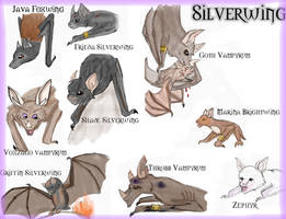 Silverwing characters colored by Draco6767