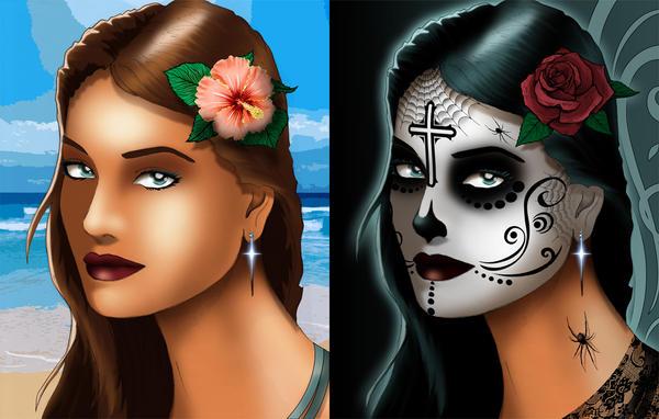 Dia De Los Muertos 2016 Blue by SeanyP40