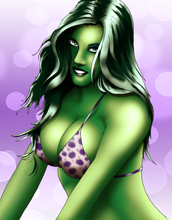 She Hulk Bikini Shoot by SeanyP40