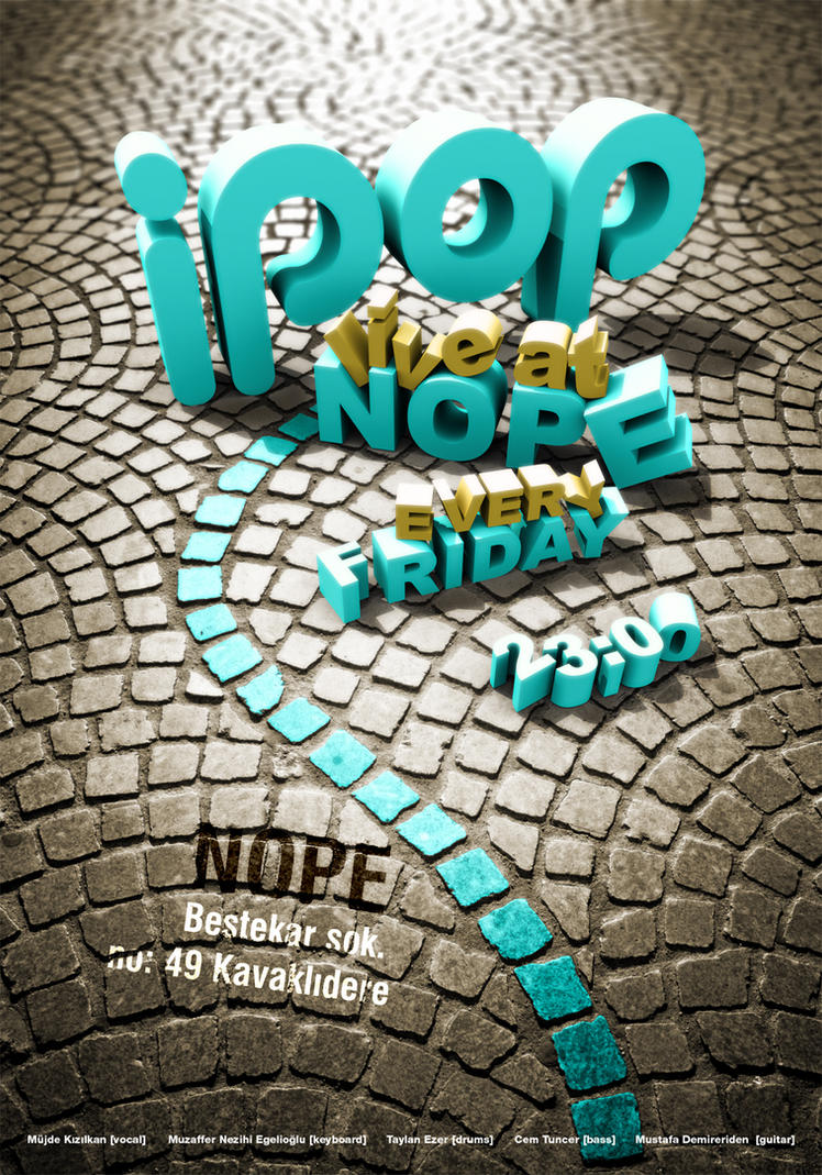 i pop poster v3 by taylanezer Provoke Your Graphic Design Inspiration In Typography And Text Art
