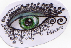 green dot eye by evaal2005