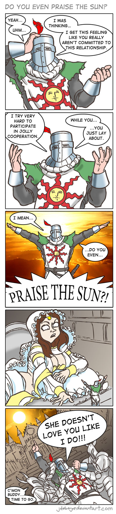 Do you even praise the sun? by jdeberge on DeviantArt