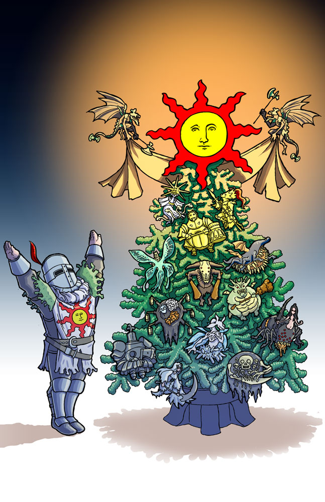 Dark Souls XMas - 2014 by jdeberge on DeviantArt