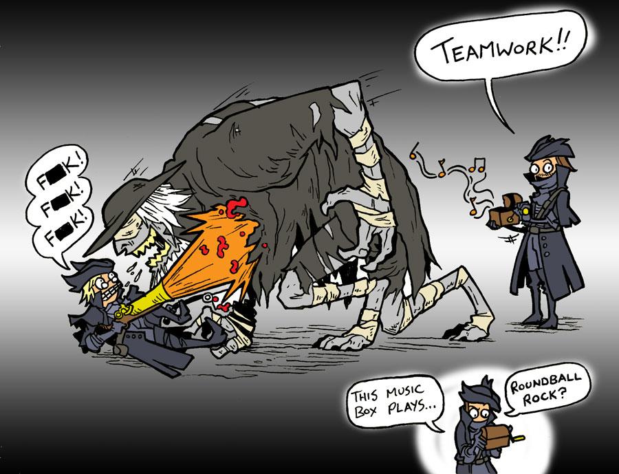 Bloodborne - Teamwork by jdeberge
