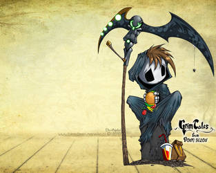 Wallpaper ~Grim Tales~ (Grim Jr.) by manekofansub