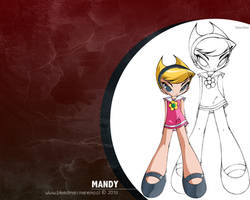 Wallpaper ~Grim Tales~ (Mandy) by manekofansub