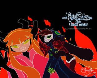 Wallpaper ~Grim Tales~ (Chi y Grim Jr.) by manekofansub