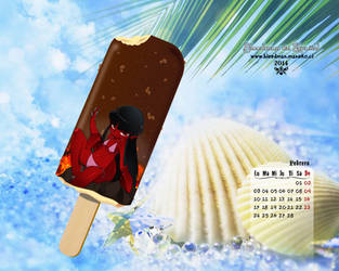 Calendario 2014 Bleedman (Febrero) by manekofansub