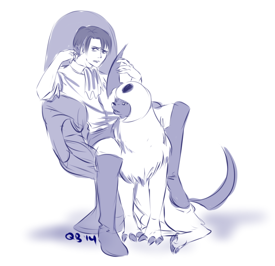 Levi and Absol by NejiKitty