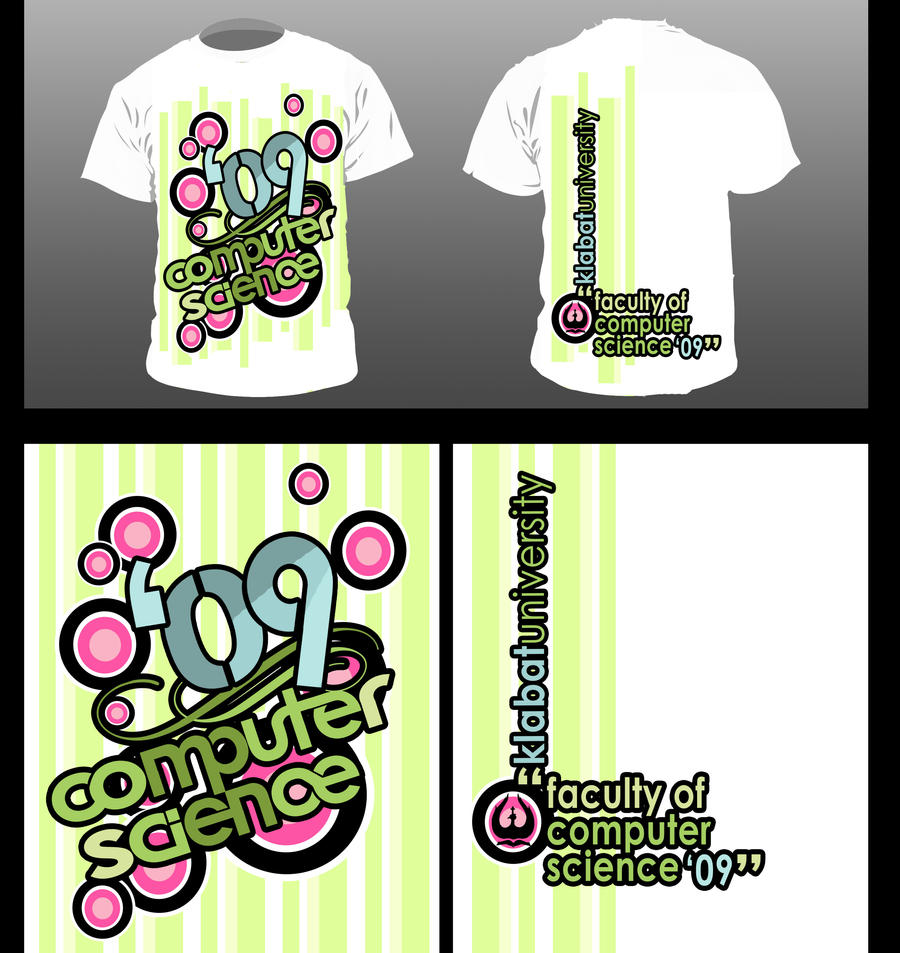 Contoh desain t shirt kelas -  Desain Kaos Fik 09 By Ndy Vinskyart